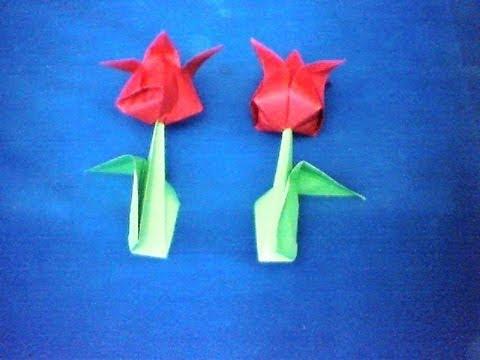 Membuat Origami  Tutorial Origami Bunga  YouTube