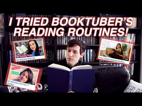 I TRIED BOOKTUBER'S READING ROUTINES!