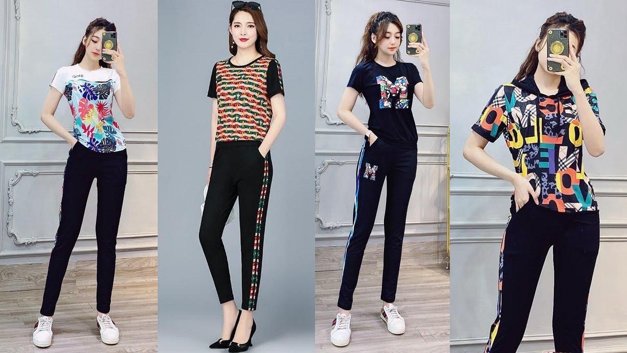 Đồ bộ kiểu nữ thể thao mặc nhà cao cấp cho người mập đẹp mới nhất 2020