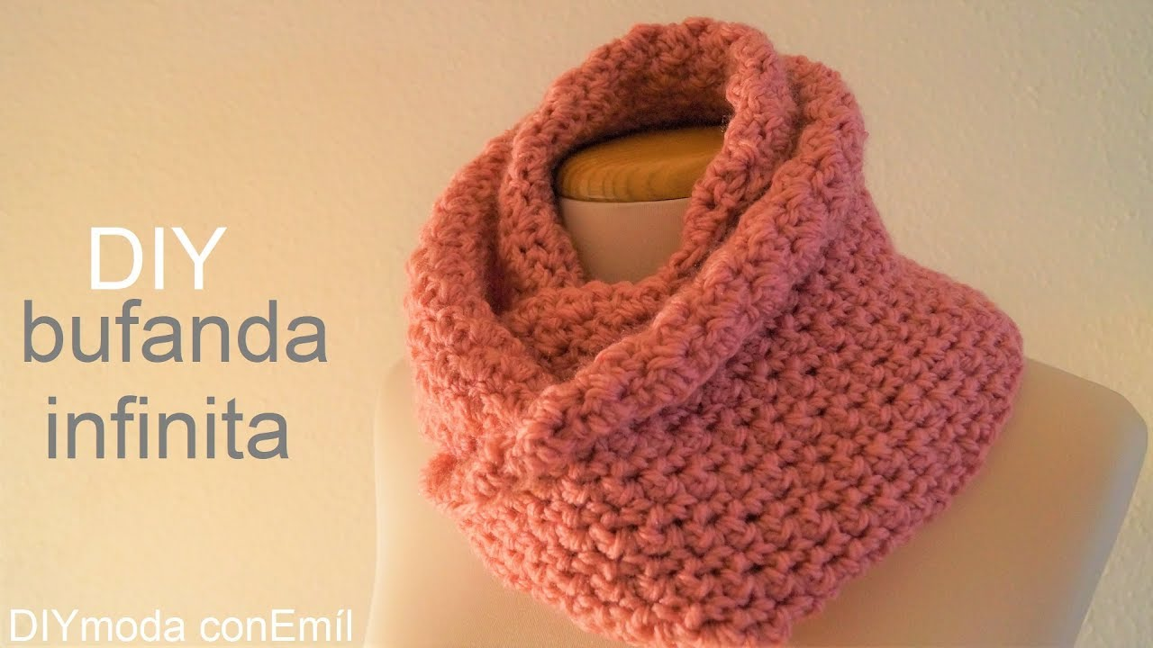 Bufanda infinita cuello tejido a crochet paso a paso - YouTube