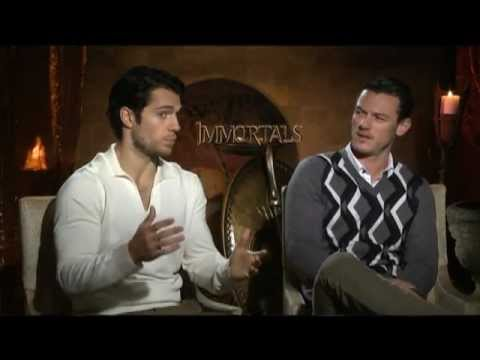 Henry Cavill, Luke Evans and Mickey Rourke Interview for IMMORTALS