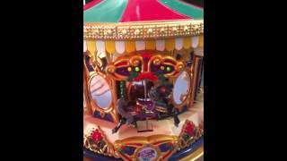 Mr Christmas merry go round carousel musical light
