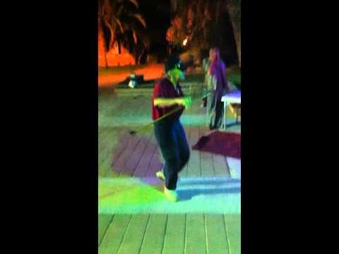 grandpa walter roth dances at kibbutz ketura mimouna celebration