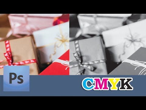 How to convert 4-color image to Black (CMYK)   Channel Mixer in Photoshop