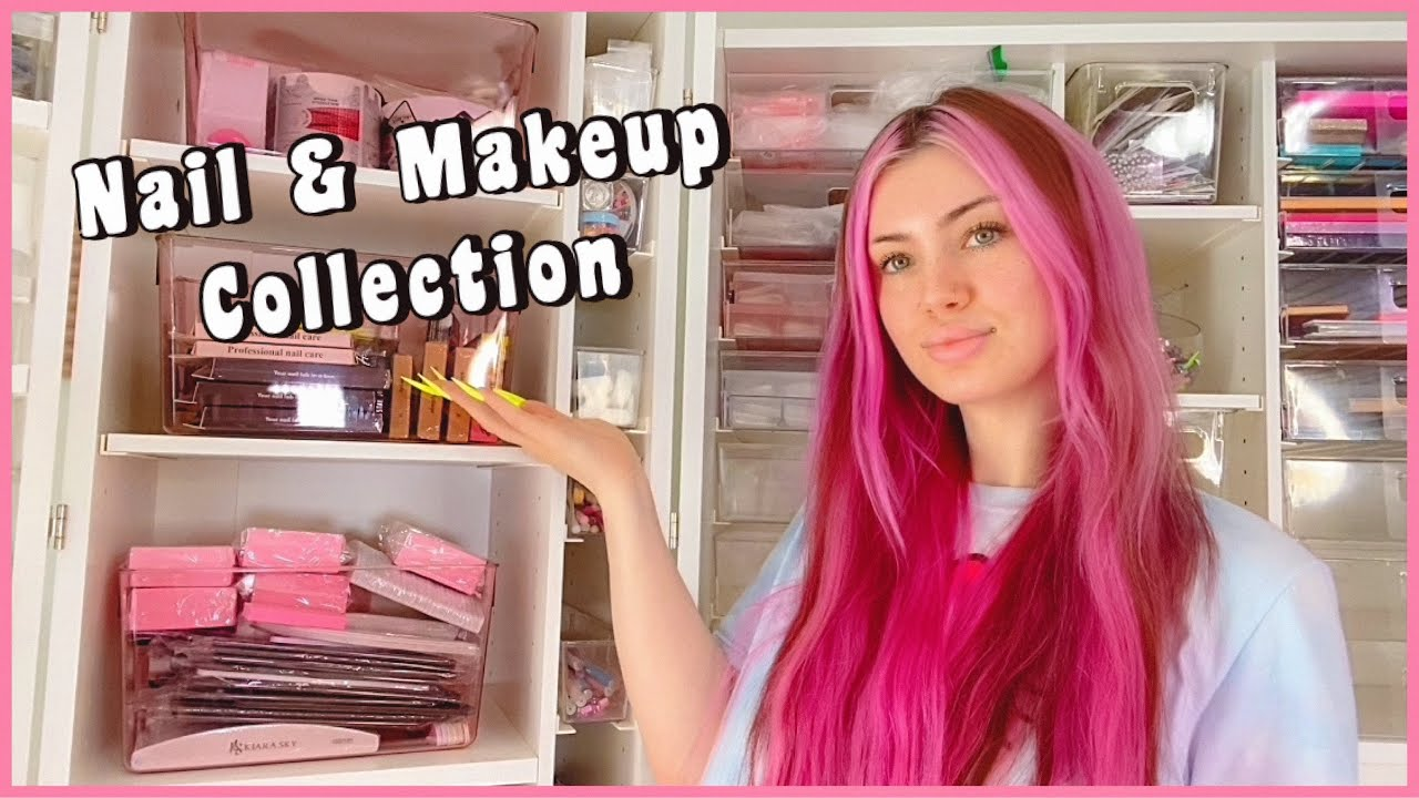 Organizing My ENTIRE Nail & Makeup Collection