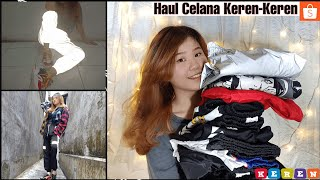 HAUL CELANA KECE + Try On || HAUL SHOPEE