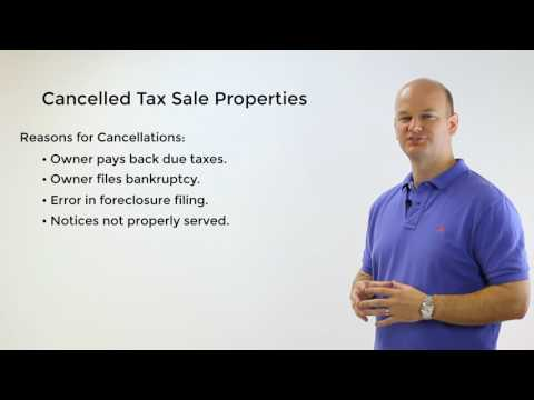 Properties Cancelled From Tax Sale Auctions