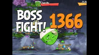 Angry Birds 2 Boss Fight 196! Chef Pig Level 1366 Walkthrough - iOS, Android