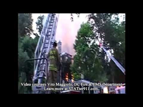 STATter911: Raw video from two-alarm house fire in Northwest Washington, DC.