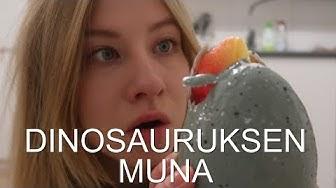 Dinosauruksen muna kuoriutuu