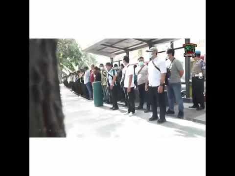 Pilkada Damai Surabaya 2020 : Polisi Surabaya Pengamanan Penetapan Paslon
