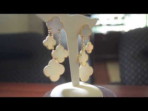 VAN CLEEF & ARPELS MAGIC ALHAMBRA EARRINGS 4 MOTIFS