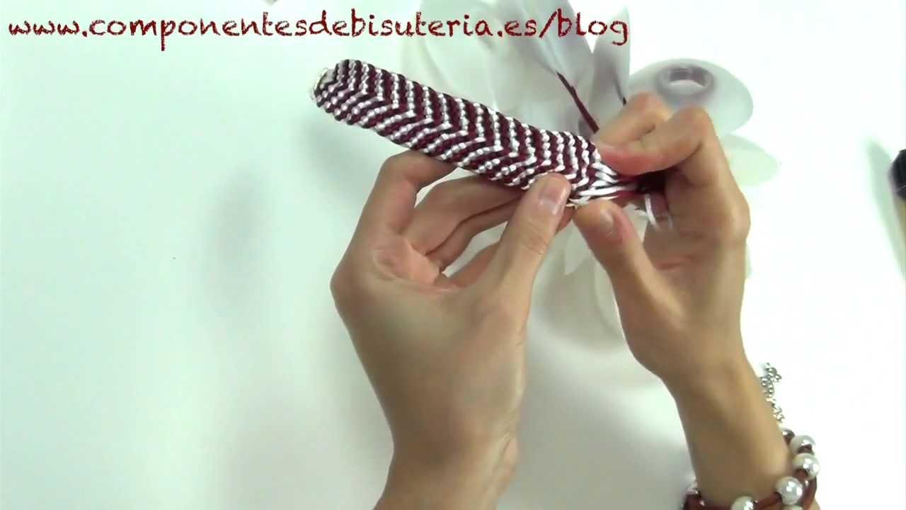 5b877621c69e Pulsera de Kumihimo paso a paso - Abalorios Manualidades - YouTube