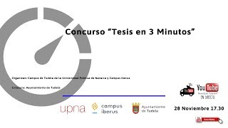 Concurso Tesis en 3 minutos 2019 Tudela