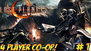 Lost Planet 2! 4 Player Co-Op! Part 1 - YoVideogames