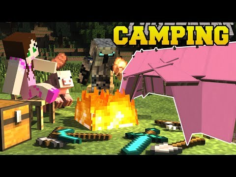Minecraft: CAMPING!!! (TENTS, CAMPFIRES, SLEEPING BAGS, & LANTERNS!) Custom Command