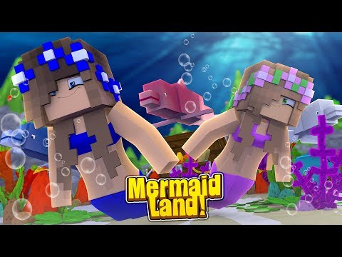 VISITING MERMAID LAND! w/Little Carly (Minecraft).