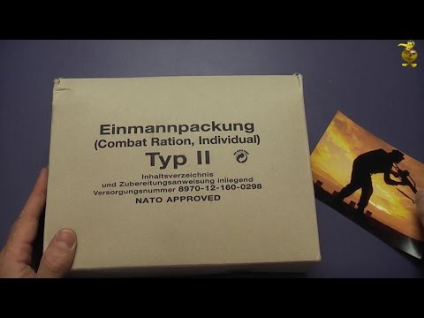 MRE Review - German Military Combat Ration (EPA) - Type II