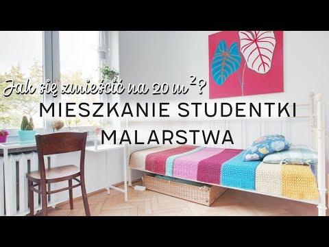 20m2 mieszkanie studentki malarstwa | HOME TOUR | Wnętrza Zewnętrza