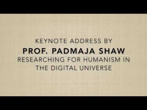 Prof. Padmaja Shaw keynote address