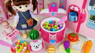 Baby doll cooker and kitchen fruit cooking food toys play house story - ToyMong TV 토이몽