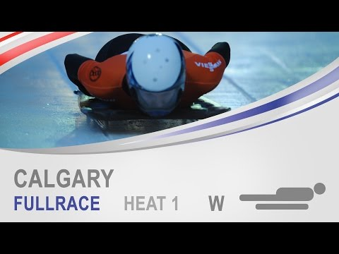 Calgary | Women's Skeleton Heat 1 World Cup Tour 2014/2015 | FIBT Official