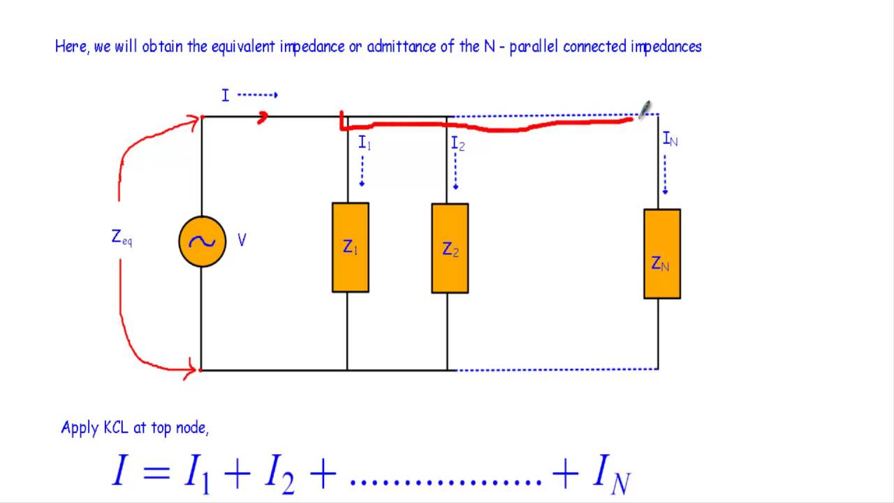 Equivalent Impedance Of Parallel Impedances