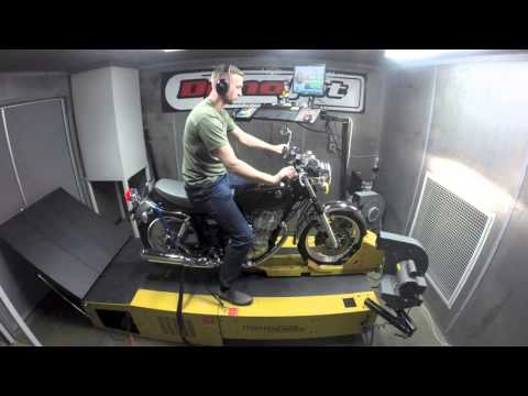 2016 Yamaha SR400 DYNO RUN VIDEO