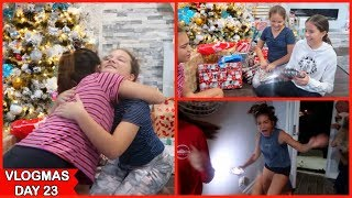 Opening Christmas presents 2019  .... PART 1  | VLOGMAS DAY 23 | SISTERFOREVERVLOGS