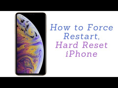 How to Force Restart or Hard Reset  iPhone X, iPhone Xs, iPhone Xs Max,