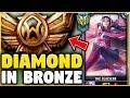 I PLAYED IRELIA IN BRONZE FOR THE FIRST TIME EVER! DIAMOND IRELIA VS BRONZE ELO! - League of Legends