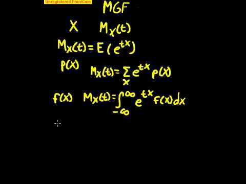 Moment Generating Functions Part 1