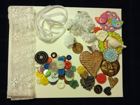 Raw Art:  Process of thought and assemblage of a collage