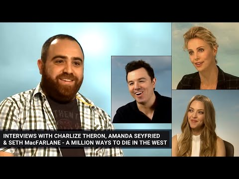 DIMITRI G interviews Charlize Theron, Amanda Seyfried and Seth MacFarlane