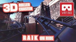 RAIK Achterbahn VR180 3D | VR Roller Coaster onride POV @ Phantasialand Oculus VR 180 1st row VR360