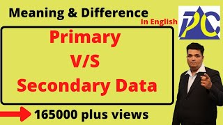 Primary and secondary data differences