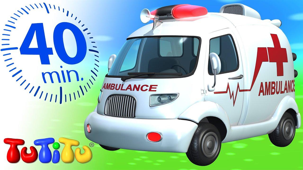 Đồ chơi xe hơi   xe cứu thương   Xe TuTiTu Biên soạn cho trẻ em