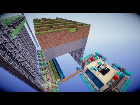 Minecraft Fully Automatic Quarry In Vanilla (no Tnt-duping) 1.13/1.14+