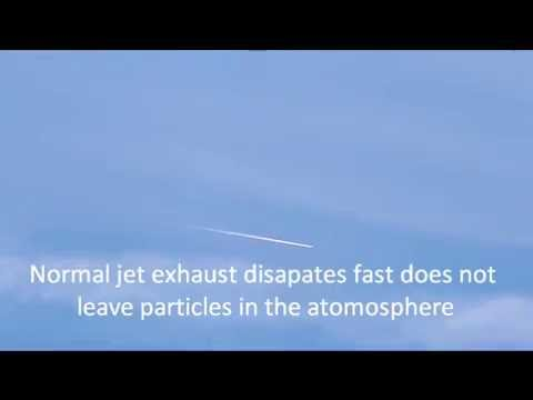 Chemtrails vs Normal Jet exhaust. Timmins OntariO