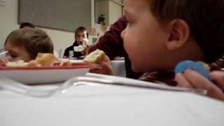 Graham Eating Thanksgiving Dinner