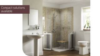 Video Walk-In Showers for disabled and elderly by Mobility Plus Bathing download MP3, 3GP, MP4, WEBM, AVI, FLV Agustus 2018