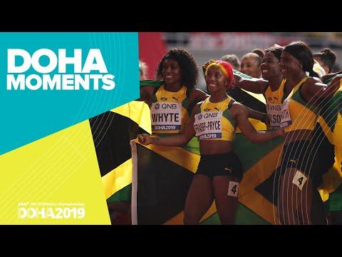 Jamaica Wins Women's 4x100m Gold | World Athletics Championships 2019 | Doha Moments