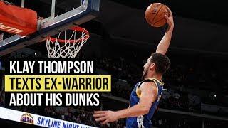 Klay Thompson texts Zaza Pachulia about his dunks