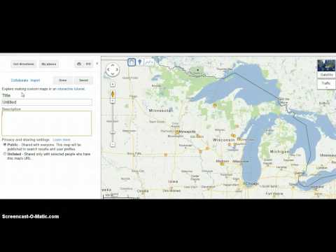 Google Maps Import KMZ File