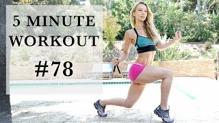 5 Minute Fat Burning Workout #78 - Cardio and Abs for Fat Loss