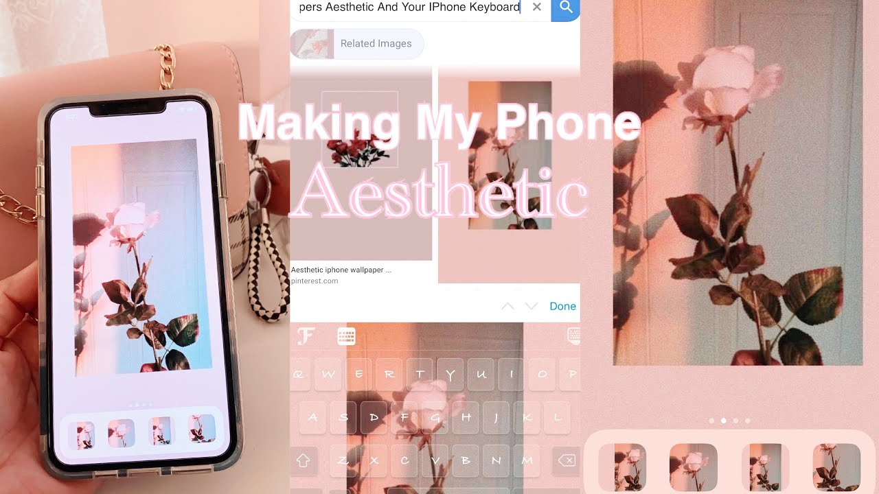 How To Have An Aesthetic Iphone Aesthetic Wallpaper Icons And Keyboard Iphone 11 Pro Max Youtube