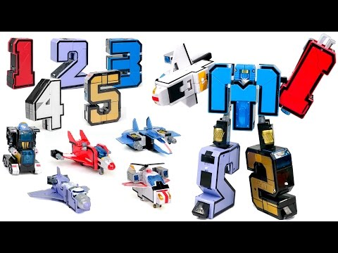 1 2 3 4 5 Number Robot Transformers AirForce 5 Vehicle Combine Robot Toys