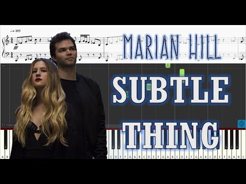 Marian Hill - Subtle Thing - Piano Tutorial w/ Sheets