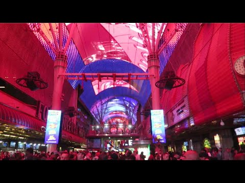New Canopy Done! Light Show Fremont Street Las Vegas