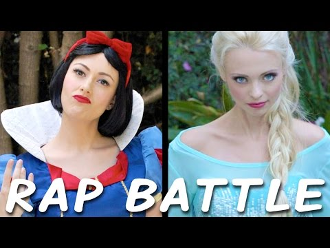 Download Youtube: SNOW WHITE vs ELSA: Princess Rap Battle (Whitney Avalon ft. Katja Glieson) *explicit*